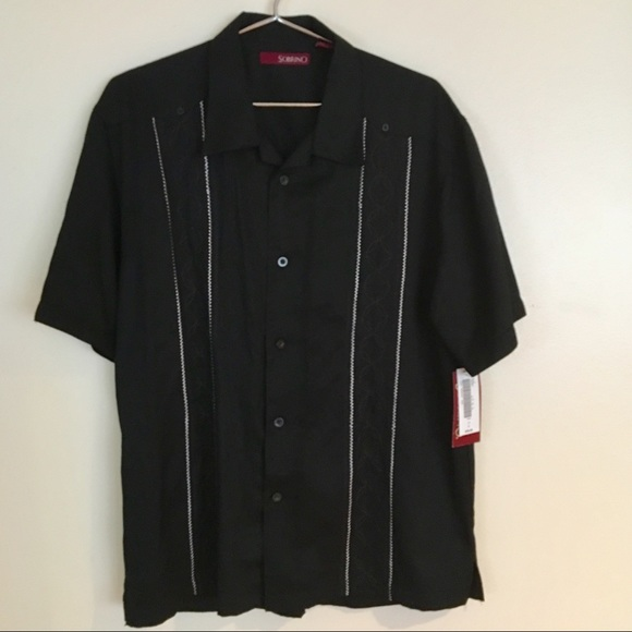 b5d54263bee Men's Black Button Down Sobrino Dress Shirt NWT